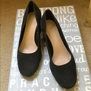 Black wedge heels from h and m size 38